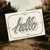 """Hello"" - illustrated card by Tatjana Buisson Design/ Illustration"