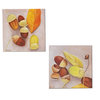 Acorns - Set of two small oil paintings on wood by Red Kitty Art
