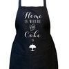 Home is where the cake is, Julia Child apron, Black full bib apron, Black baking apron, Women's black kitchen apron. by Toast Stationery