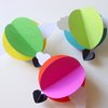 Hot Air Balloon Decoration-Bright-Set of 3 by younghearts