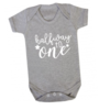 Halfway to One baby grow / 6 months birthday / 6 months / Halfway to 1 / Birthday onesie by Little Lion Cub Boutique