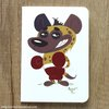 ​Hyena boxer greeting card by Terrapin and Toad