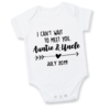 I Can't wait to meet you AUNTIE & UNCLE / BABY ANNOUNCEMENT/PREGNANCY REVEAL onesie  /  Baby Grow - Baby bodyvest - Unisex - cute onesie - Baby Announcement Idea - Pregnancy Reveal  by Little Lion Cub Boutique