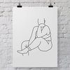 Anna Minimalist Woman Figure Wall Art Printable by Sugar and Vice