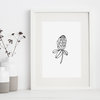 Protea Flower Minimalist Wall Art Printable by Sugar and Vice