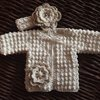 Vintage collection- unique handmade crochet baby jackets and tops by Tweedle Bee