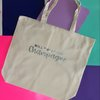 Will Sweat for Champagne Silver Glitter Sports Bag Tote Cotton Natural  by Fineapple