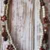 Beaded double string necklace by With a Little Finesse