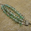 Green & Brown Speckled 3 Strand Beaded Bracelet  by META After Abstraction (Pty) Ltd
