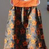 Orange floral summer dress with crochet top and headband Age 5 - 6 by JaxStar Handmade Clothing and Home