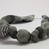 Shades of Grey Linen Textile Necklace by META After Abstraction (Pty) Ltd