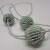 Mint 3 beaded Necklace on Single Strand by META After Abstraction (Pty) Ltd