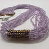 Long Thin Purple beaded Necklace by META After Abstraction (Pty) Ltd