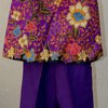 Floral top and purple pants set for girls Age 5-6 by JaxStar Handmade Clothing and Home