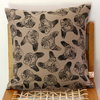 Pug hand printed decorative scatter cushion cover by Kerry Cherry Designs and Prints