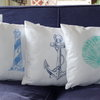 Whale hand block printed decorative scatter cushion cover by Kerry Cherry Designs and Prints