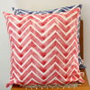 Red Chevron Scatter cushion cover by Kerry Cherry Designs and Prints