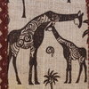 African animal hessian cushion cover fully lined by JaxStar Handmade Clothing and Home