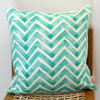 Copper Chevron Hand block printed scatter cushion cover by Kerry Cherry Designs and Prints