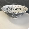 Black White Monochrome Pattern Bowl by Clay Creations 56 - Handmade Pottery