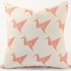 Cushion Cover: Origami Birds - Watermelon by ArtVraat Designs