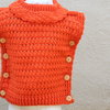 Orange knitted winter top for girls by JaxStar Handmade Clothing and Home