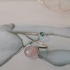 9ct Rose Gold & Silver Rose Quartz Boho Serendipity Ring by La Mae Jewellery