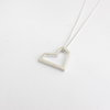 Medium Geometric Heart in Silver by Savage Jewellery