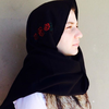 Rose embroidered  Scarf ( Warhd scarf)  by HS Collection SA