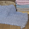 Fuzzy tassel blanket, knit newborn blanket, fluffy layer by Lavender Blossoms Props