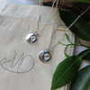 Black Moon Silver Necklace by MD Handmade Jewellery