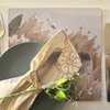 Cork placemats: QUEEN PROTEAS (white) by TableArt
