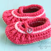 Handmade crochet Mary Jane shoes  by Croshka Designs