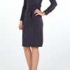 Knitted Cutout Dress with belt by ThreadZ Clothing