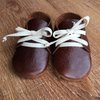 Baby shoes dark brown leather by Wiggle Giggle Baby Clothing