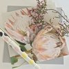 Greeting card: king protea (pink) by TableArt