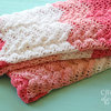 Handmade crochet baby blanket by Croshka Designs