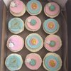 24 Vintage Edible Cupcake Toppers by Sugar & Lace