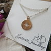 Silver Compass Necklace by MD Handmade Jewellery