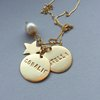 Personalised Name Disk Necklace by GK Jewellery