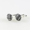 black and white button cufflinks  by Bow Peep