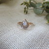Rainbow Moonstone and Diamonds in solid 9ct rose gold by MD Jewellery Design