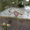 Rosecut natural Watermelon Tourmaline with Diamond in solid 9ct Rose Gold Ring by MD Jewellery Design