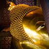 Eye of Reclining Buddha on Canvas by Vermeulen Photography