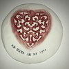 Heart Live Love Plate by Clay Creations 56 - Handmade Pottery