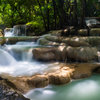 Erawan waterfall #5 on Canvas by Vermeulen Photography