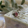 Natural Watermelon Tourmaline in Sterling Silver Ring by Mignon Daubermann Jewellery Design