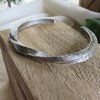Solid Sterling Silver Twisted Men's Bangle by Mignon Daubermann Jewellery Design