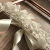 Madalyn beaded lace bridal wedding garter by Laced by Katryn