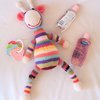 Gerry the gentle giraffe amigarumi crocheted soft toy by needle nerds
